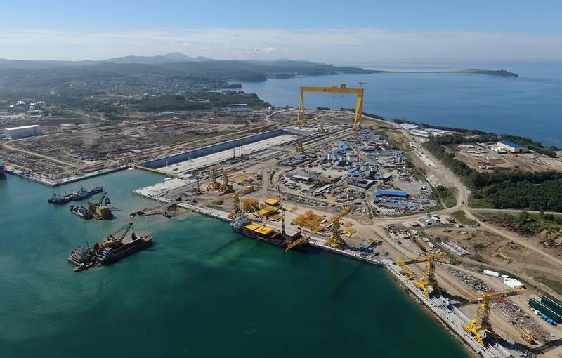 На ССК «Звезда» завершается строительство сухого дока