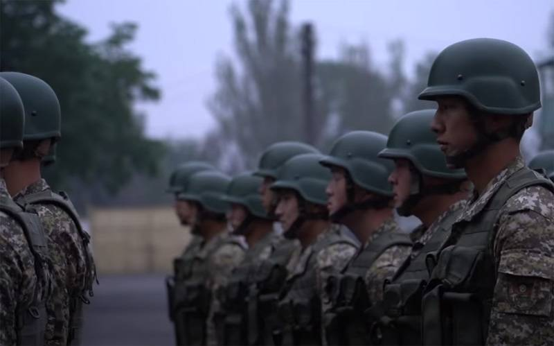 One day from the service of the Kyrgyz special forces