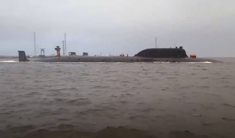 Project 885M Kazan nuclear submarine passed the next stage of sea trials