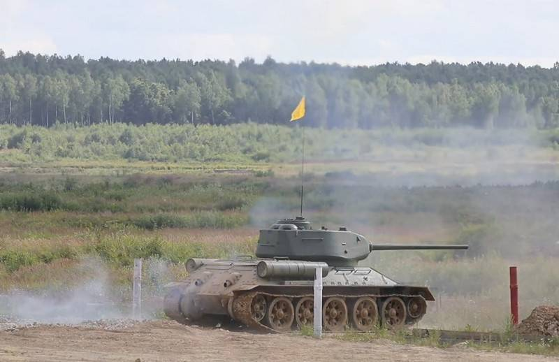 T-34 exercises with live fire were held at the Alabino training ground