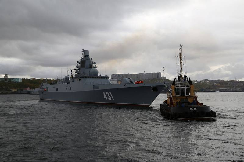 """The frigate """"Admiral Kasatonov"""" arrived at the place of permanent duty"""