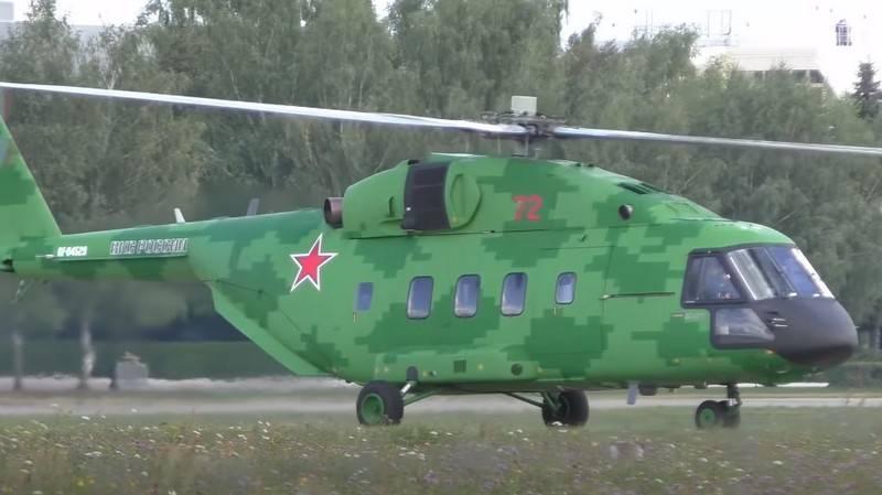 軍用輸送Mi-38Tは新しい修正を受け取ります