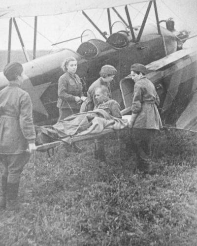 u-2 loading of the wounded