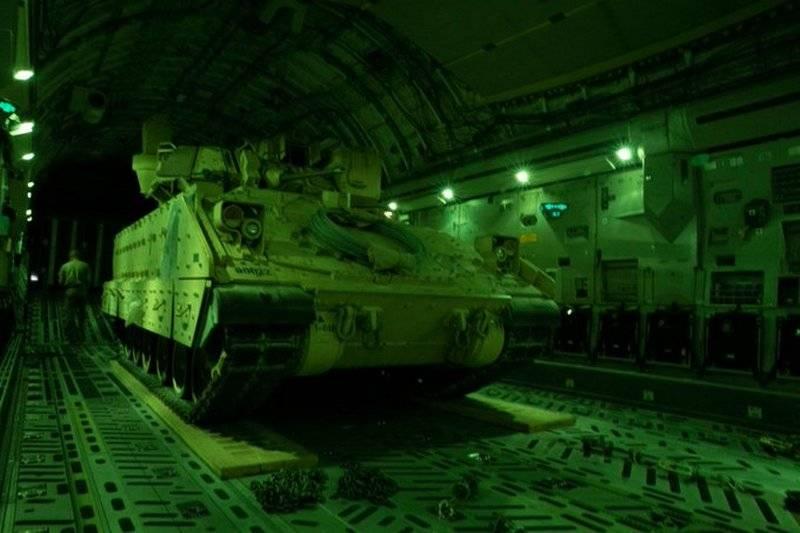 अमेरिका ने पूर्वोत्तर सीरिया में बीएमपी ब्रैडली को तैनात किया