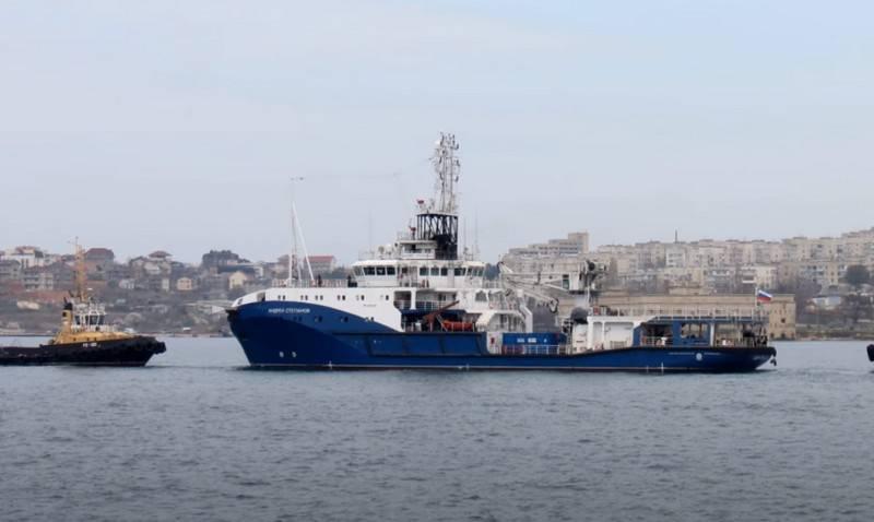 """प्रशांत बेड़े के लिए परियोजना 23470 """"एंड्री स्टेपानोव"""" की समुद्री यात्रा """"सेवामपूत"""" के साथ की गई"""