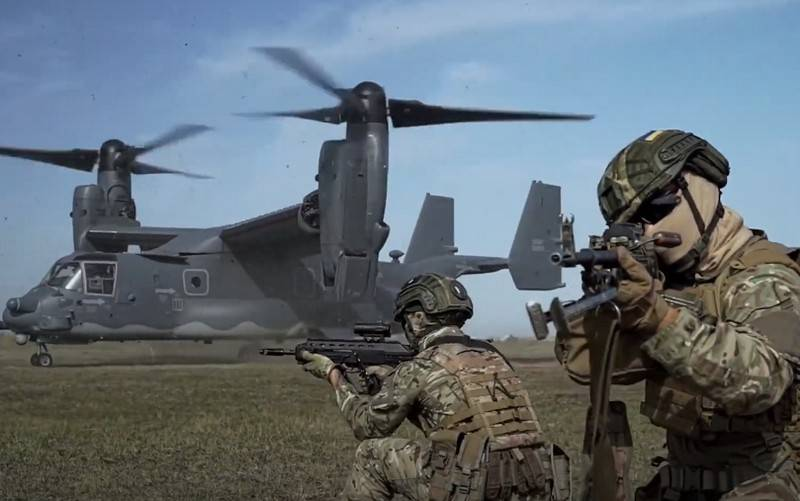 A video of the landing of the MTR of the Armed Forces from the CV-22B Osprey tiltrotor appeared on the Web