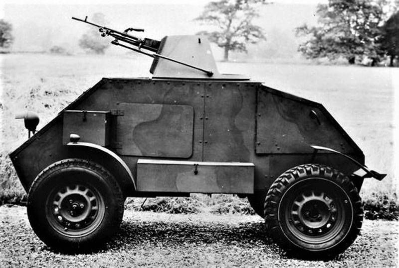 An armored car instead of a motorcycle. Hillman Gnat Project (UK)
