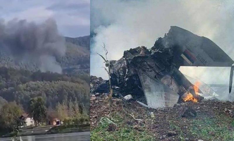 Il caccia MiG-21 si è schiantato nella Serbia occidentale: il destino del pilota è noto