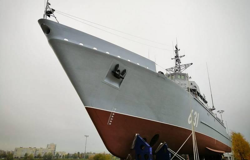 """Il progetto 12700 dragamine """"Georgy Kurbatov"""" è stato lanciato a San Pietroburgo"""