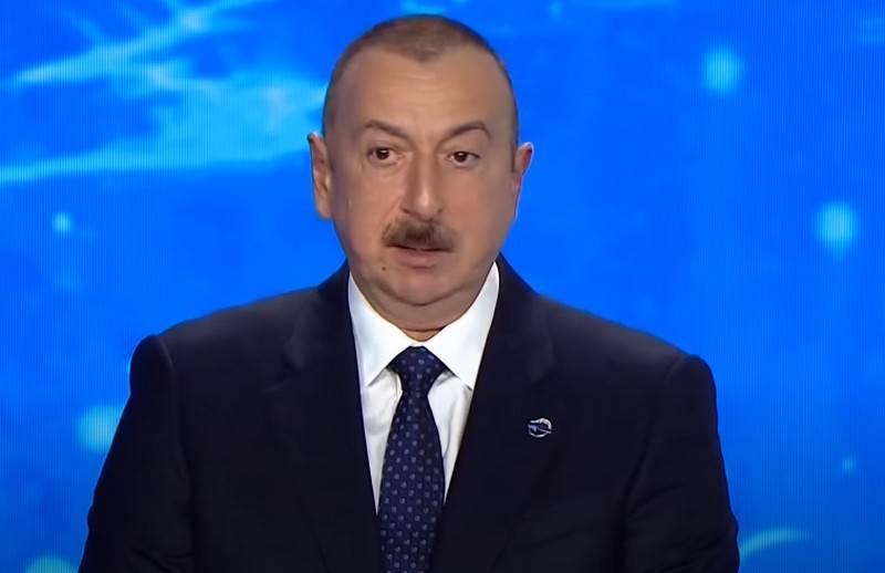 Aliyev nombró la única condición para poner fin a los combates en Karabaj