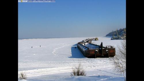 Volga freezes
