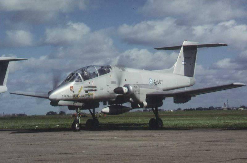 Service et utilisation au combat de l'avion d'attaque à turbopropulseur argentin IA.58A Pucara