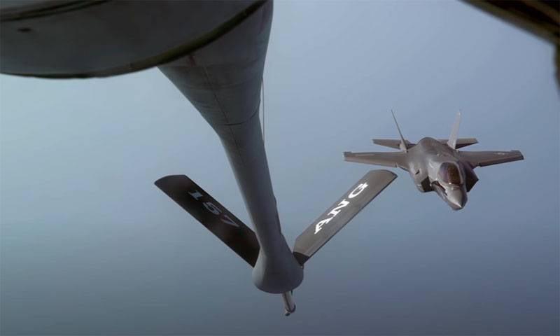 Negli Stati Uniti ha mostrato filmati della caduta del caccia di quinta generazione F-35B