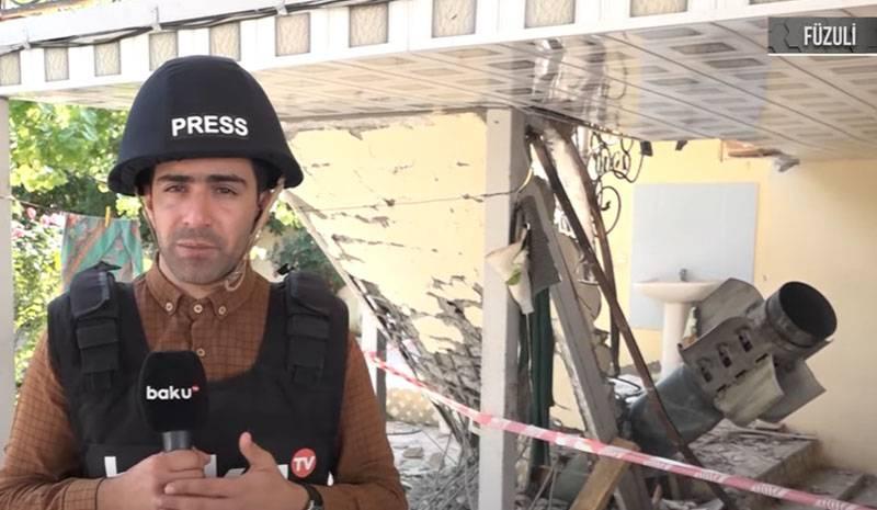 """""""Configuración extraña"""": Hay disputas en la red con respecto a la trama del canal de televisión de Bakú sobre el cohete que golpeó la casa."""