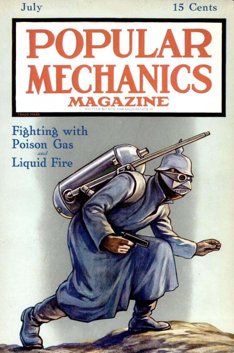 Bir dünya savaşında ateş ve gaz. 1915'ten görünüm