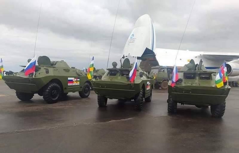ロシアはBRDM-2のバッチを中央アフリカ共和国に配達しました