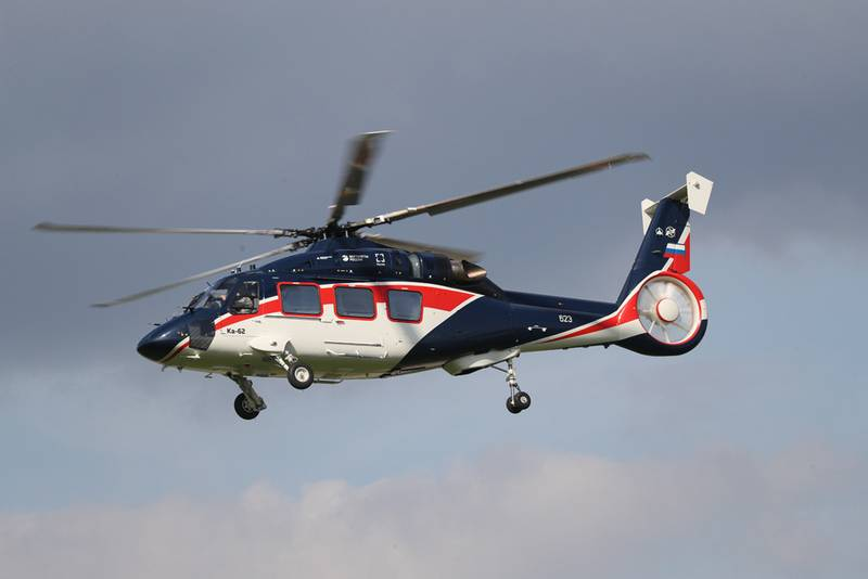 Russian Helicopters told about the Ka-62 helicopter test program