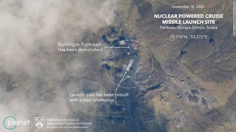 """""""우주 정찰은 러시아의 계획을 드러냈다"""": 핵 순항 미사일 """"Burevestnik""""발사 준비에 대한 미국 채널"""