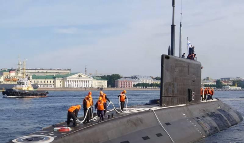 """Termos de aceitação na Marinha do segundo """"Varshavyanka"""" para a Frota do Pacífico"""