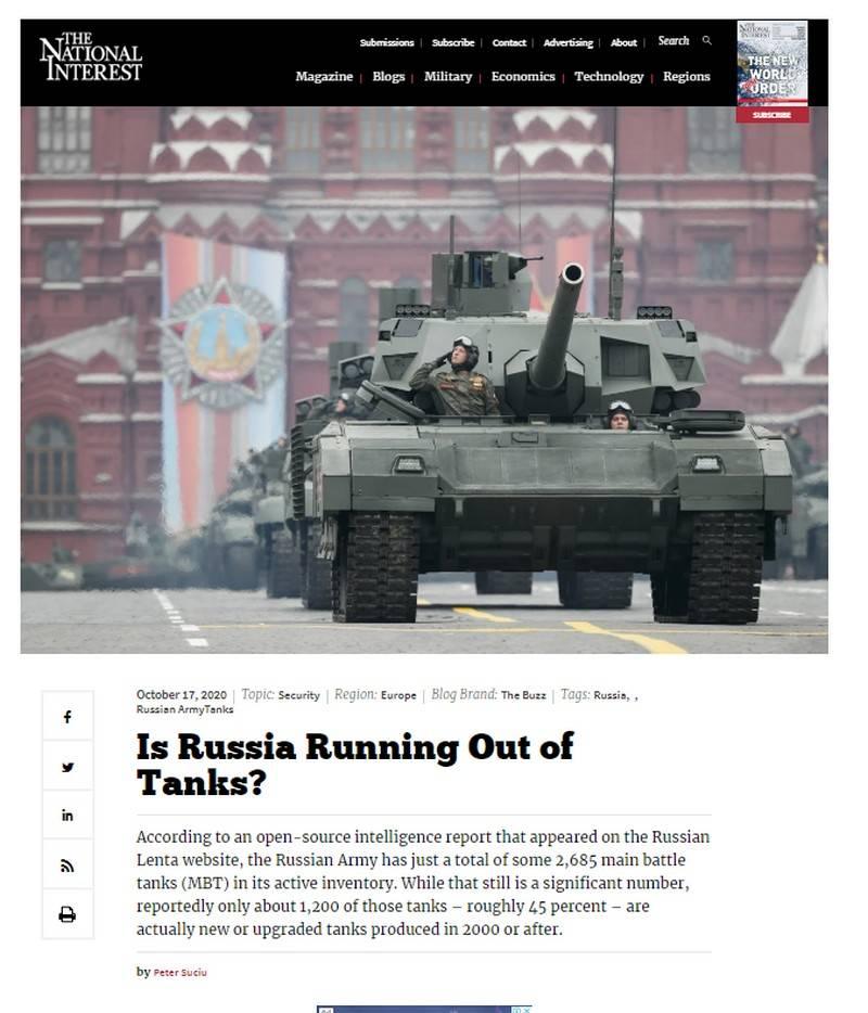"""""""Russland kann sich mit dem T-34 bewaffnen"""": Wie der Autor des Nationalen Interesses Zahlen über die Panzerflotte der russischen Streitkräfte manipuliert"""