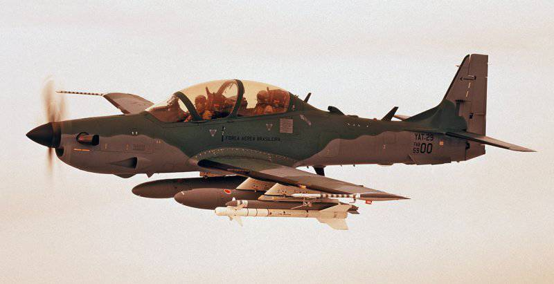 Combat use of EMB-314 Super Tucano turboprop attack aircraft