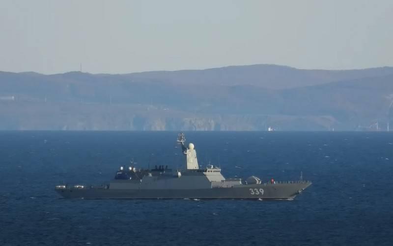 태평양 함대의 최신 코르벳 함이 일본해에서 무기를 테스트했습니다.