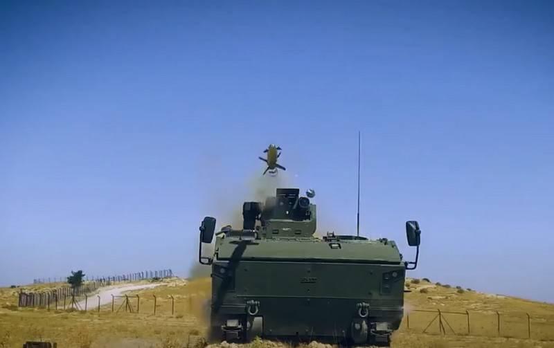 """Die Türkei zeigte die Verwendung des russischen ATGM """"Kornet-E"""" für das gepanzerte Fahrzeug Kaplan-10"""