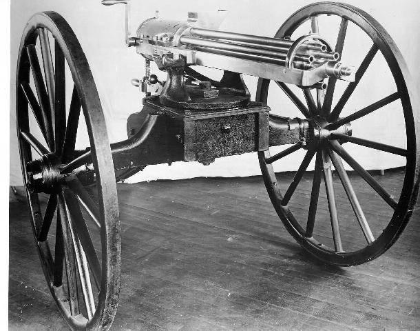 Erfindung und Verbesserung. R. J. Gatling Maschinengewehre
