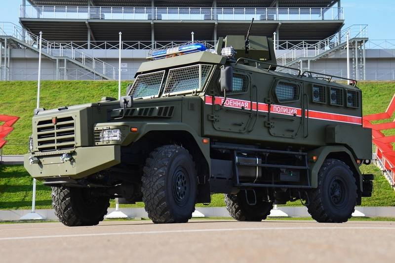 "The military police received the first batch of ""Patrol"" armored vehicles"