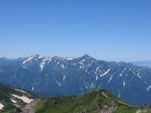 View of the Japanese Alps (日本 ア ル プ ス Nihon Arupusu):