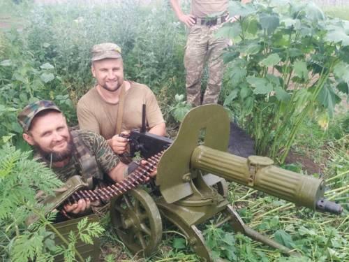 Maxim Maschinengewehr in Donbass