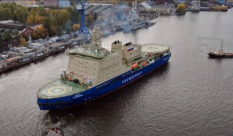 ディーゼル電気砕氷船「ViktorChernomyrdin」がお客様に引き渡されました