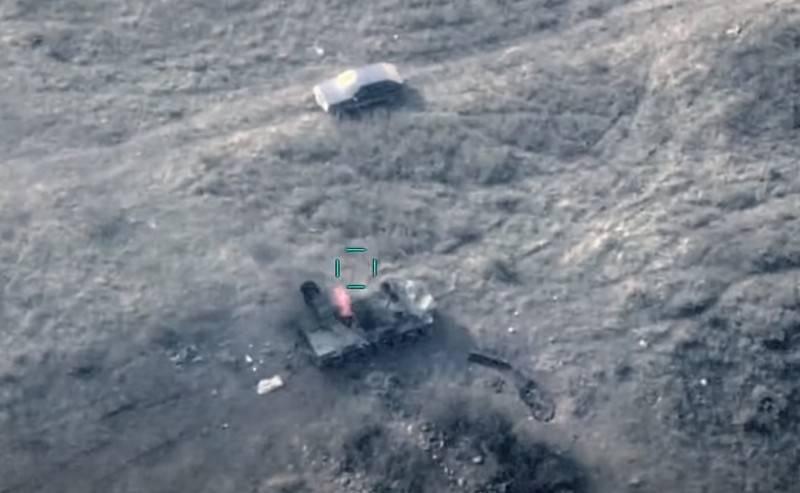 아제르바이잔 국방부는 아르메니아 군대의 M-55 대공포 파괴를 보여주었습니다