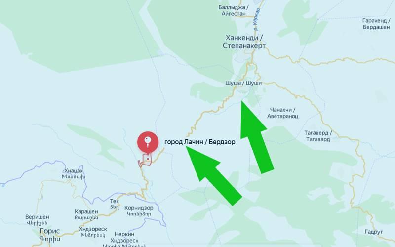Karabakhで発表された戦略的に重要なBerdzor-Shusha高速道路でのアゼルバイジャンの妨害作戦