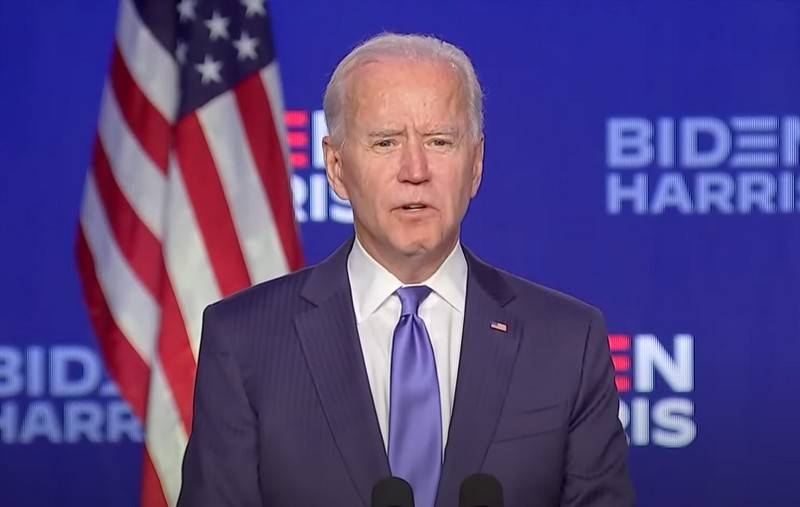 Biden said he was confident in his victory in the US presidential election
