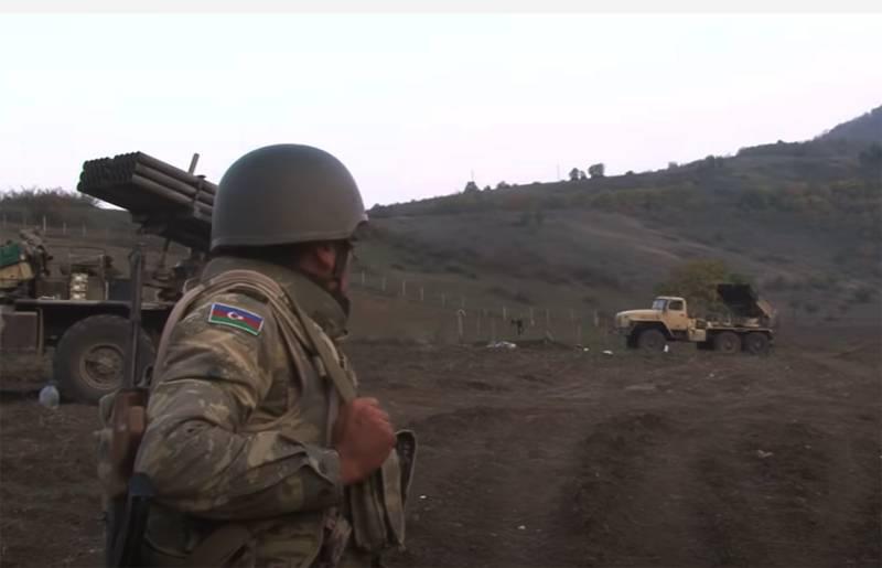 Rapporti contraddittori: a Baku dissero che era l'esercito azero a distruggere il nemico accerchiato vicino a Shusha