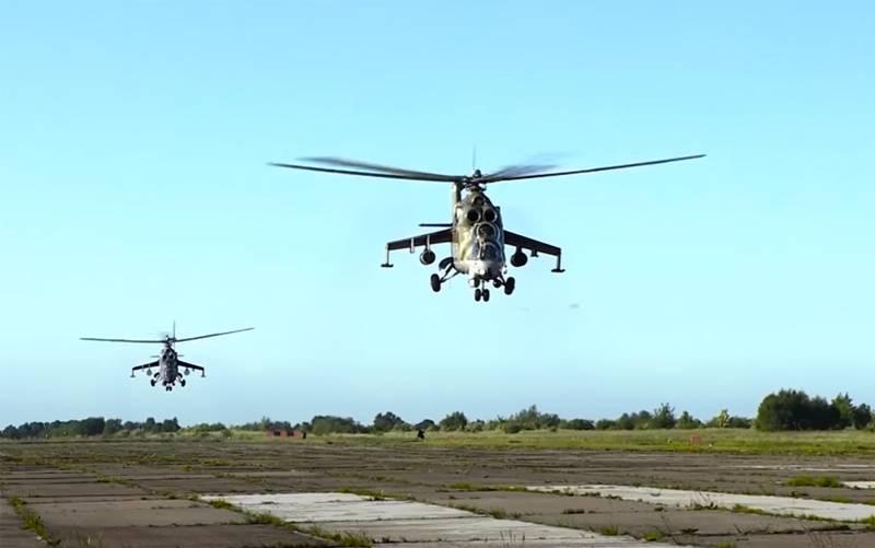 Mi-8, Mi-24 और UAV: कराबख में रूसी शांति मिशन के विमानन खंड पर सूचना दी