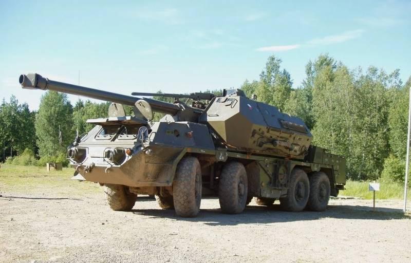 """A Ucrânia comprou um lote de canhões autopropelidos checos de 152 mm """"Dana"""" desativados"""