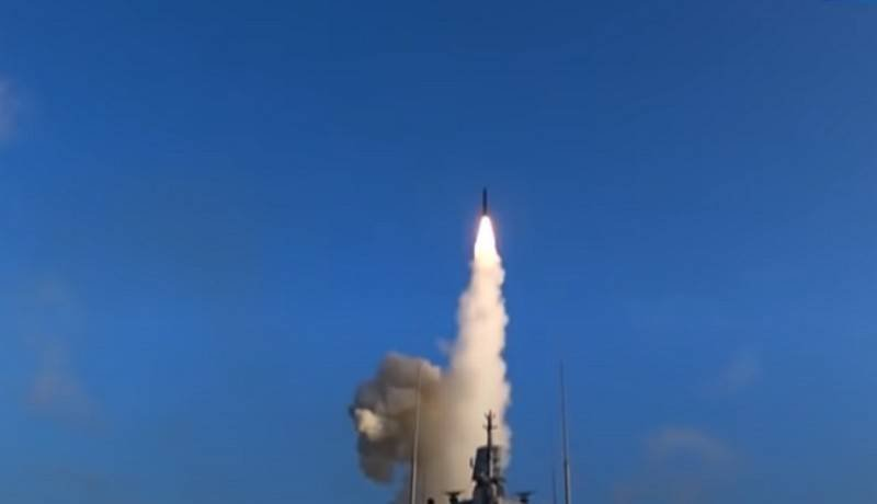 "The frigate ""Admiral Kasatonov"" launched a cruise missile ""Caliber"" from the White Sea"