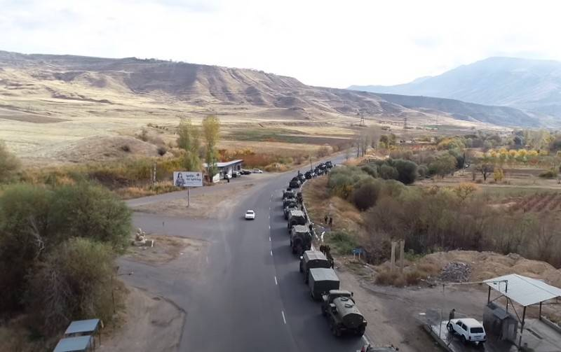 Another column of Russian peacekeepers entered the NKR capital Stepanakert