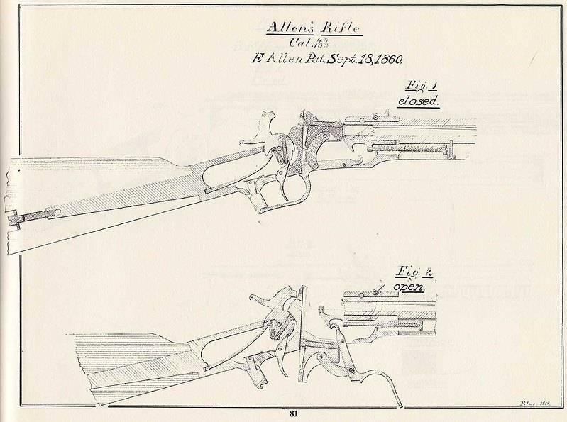 Довольно обычное оружие под совершенно необычный патрон: револьверы и карабин Аллена и Уиллока