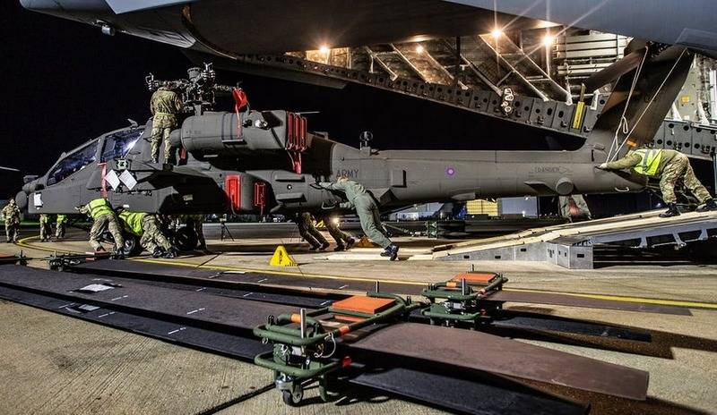 Britain receives first AH-64E Apache Guardian attack helicopters