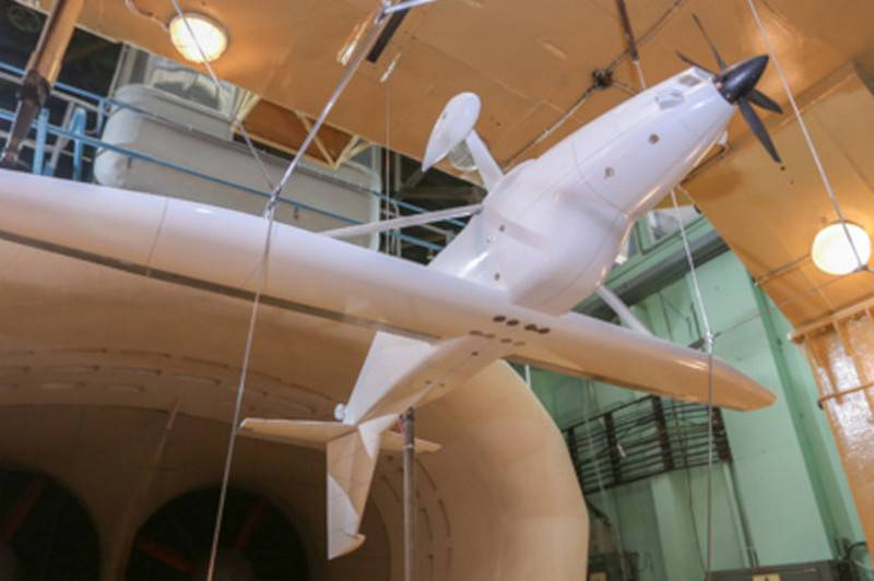 "The aircraft LMS-2 ""Baikal"" created to replace the An-901 was tested in a wind tunnel"
