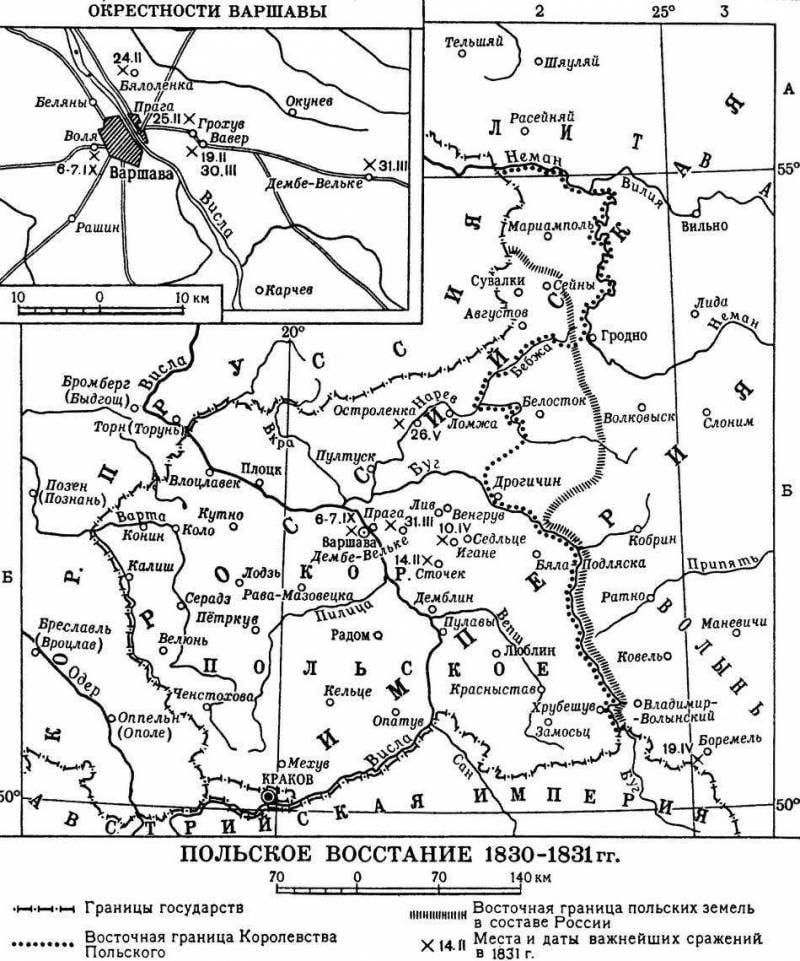 Польское восстание 1830-1831 гг. Польские шовинисты против русских благодетелей