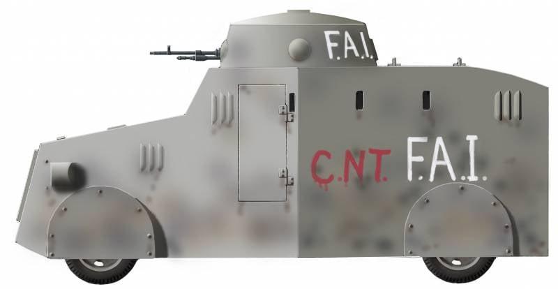 Просто «тизнаос». Самодельные бронеавтомобили гражданской войны в Испании