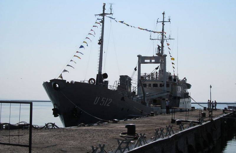 US Navy personnel completed repairs to the pier of the Naval Forces base in Ochakov