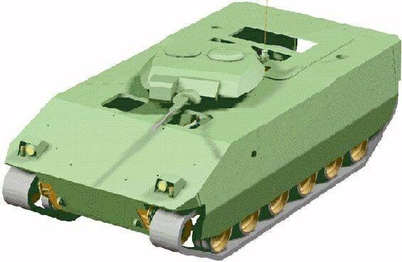 Composite instead of aluminum. Experimental armored vehicle ACAVP