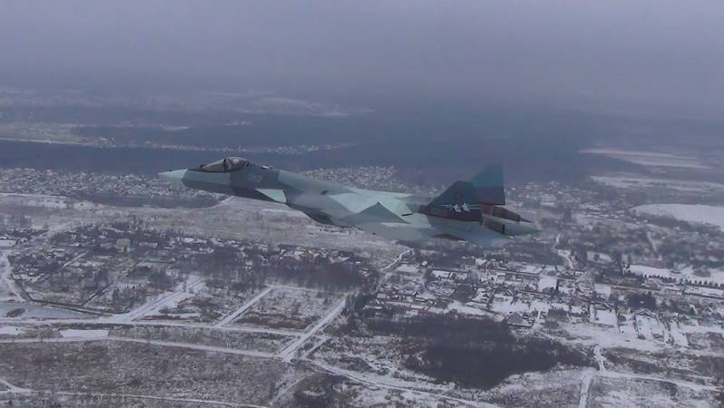 Experienced Su-57 with two types of engines.
