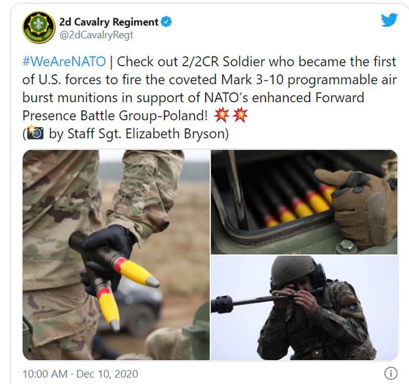 В Польше воодушевились испытаниями программируемых боеприпасов Mk310 США именно на её территории