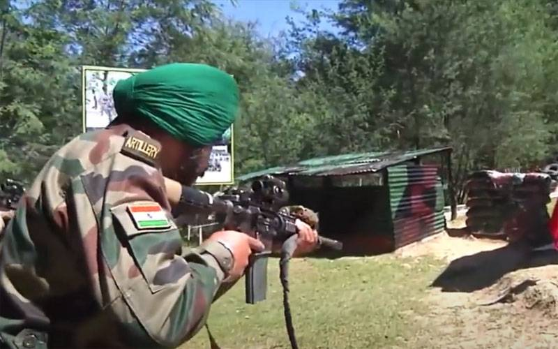 The outbreak of battle between the Indian and Pakistani military on the border lasted more than 2 hours